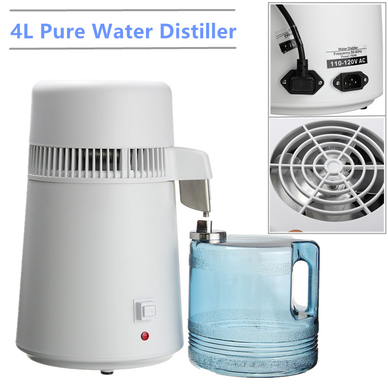 Distilled Water Machine Water Filters  4L Safe Health Drinking Household 220V Water Pure Distiller Purifier Filter 304 StainlessDistilled Water Machine Water Filters  4L Safe Health Drinking Household 220V Water Pure Distiller Purifier Filter 304 Stainless