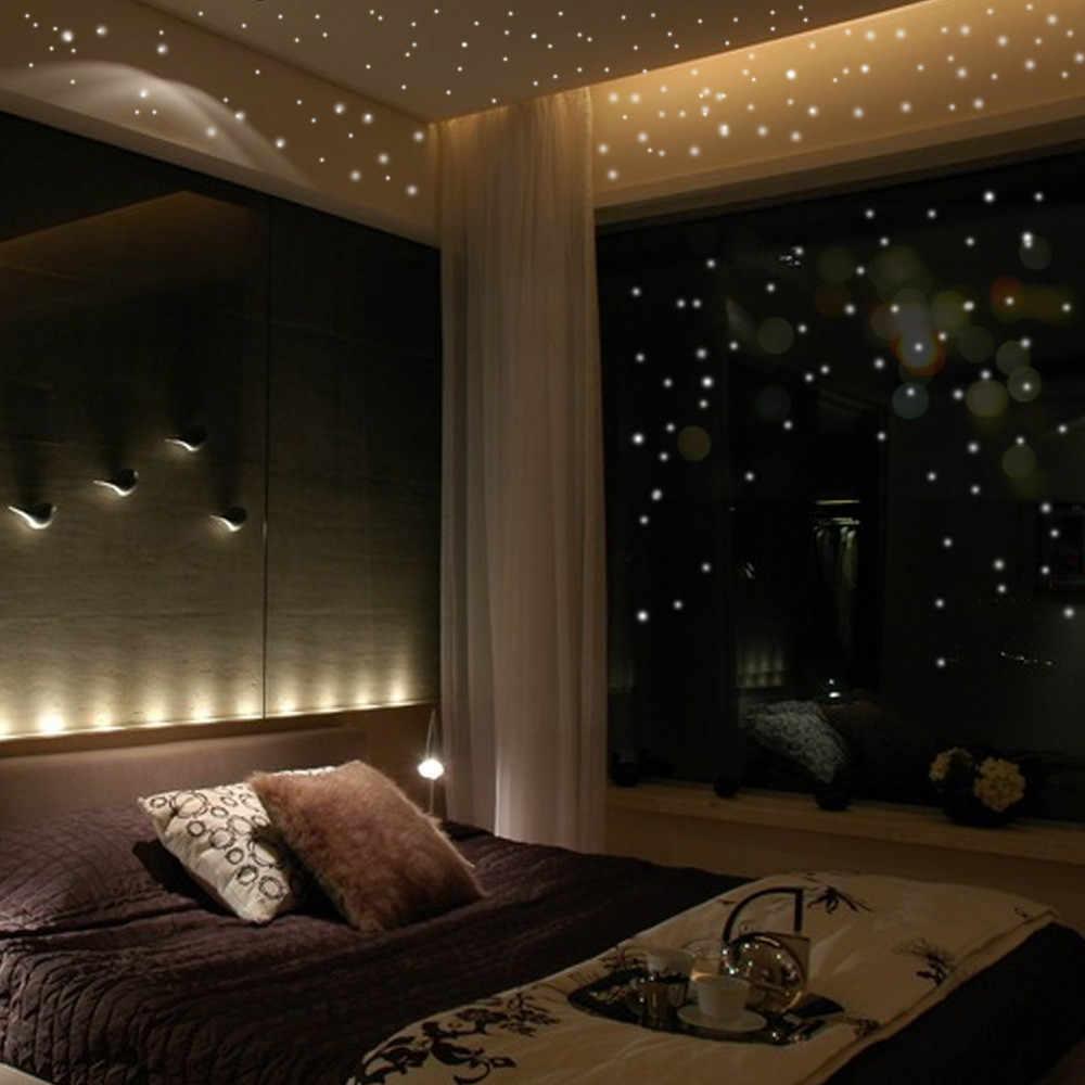 Pegatinas de pared luminosas fluorescentes 3D 407 Uds estrellas que brillan en la oscuridad pegatinas de pared luminosas fluorescentes para niños habitación de bebé dormitorio decoración del techo del hogar