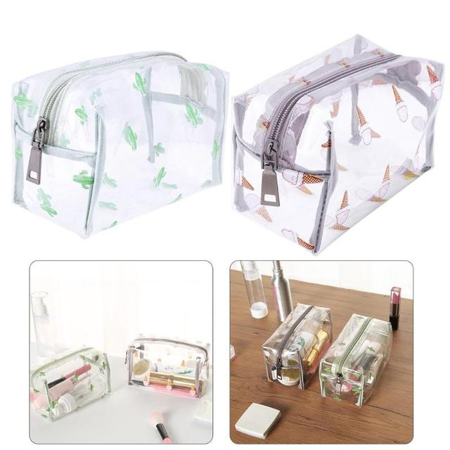1b64955b2a Waterproof Travel Transparent PVC Cosmetic Makeup Bag Toiletry Case Holder  Pouch Make Up Bags Handbag Organizer Storage Pouch