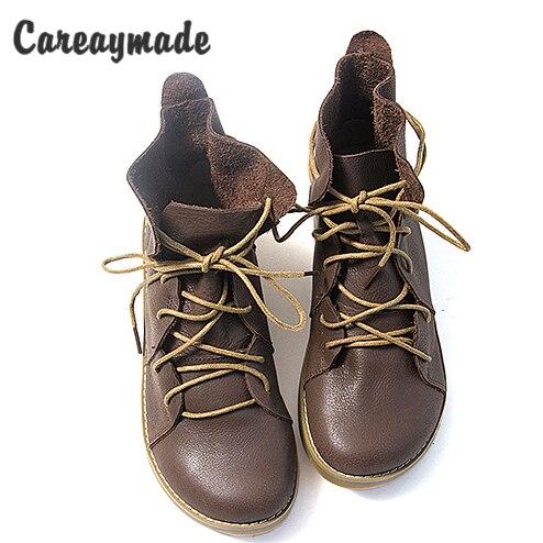 """Careaymade   ยุโรป   US สไตล์ Martin """"Sen หญิง"""" รองเท้าครึ่งข้อเท้าสั้นรองเท้าบู๊ทหนังแท้/ผู้หญิงรถจักรยานยนต์, 2 สี-ใน รองเท้าบูทหุ้มข้อ จาก รองเท้า บน   1"""
