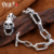 Beier nova store100 % 925 prata esterlina crânio pulseiras pulseiras para homens de punk mão cadeia fine jewelry sctysl0188