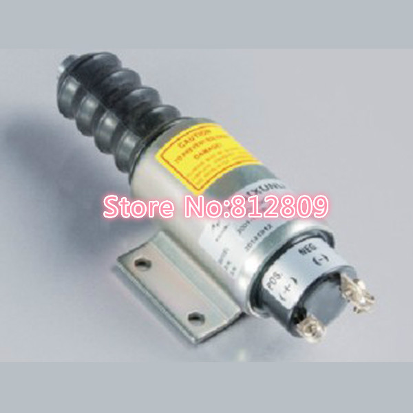 Fuel Flameout Solenoid Valve  2003ES-12E7U1B2S1A 12V 3924450 2001es 12 fuel shutdown solenoid valve for cummins hitachi