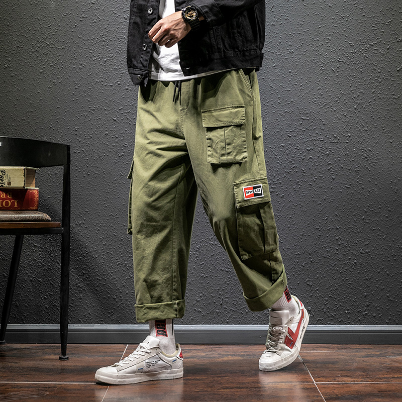 Camo Military Cargo Joggers Pants Classic Army Summer Baggy Straight Male Harem Wide Pants With Pocket Streetwear Tactical Men