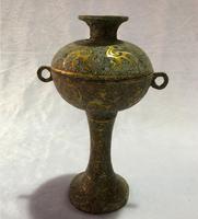 Древняя китайская старая бронза масляная лампа тонкой антикварный подсвечник Главная украшения искусства высокое значение коллекция