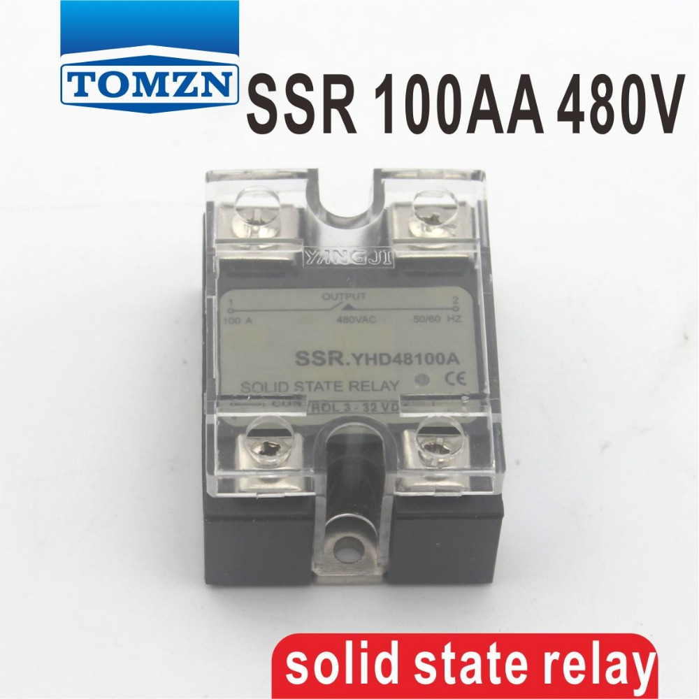 90AA SSR input 90-250V AC load 24-480V AC High voltage single phase AC solid state relay normally open single phase solid state relay ssr mgr 1 d48120 120a control dc ac 24 480v