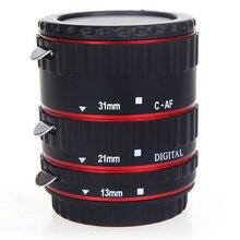 TTL автоматической фокусировки AF Макрос Удлинитель кольцо для EF EF-S объективов Canon красный