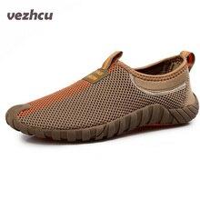 Mesh Respirant Sandales Hommes 2016 D'été Plat Occasionnels Sandales Hommes Plage Flip Flops Pantoufles Chaussures P5d43