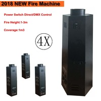 2018 NEW (4 pieces/lot) Stage DJ Fire Machine DMX Flame Projector Stage Effect Equipment DMX Power Switch Control