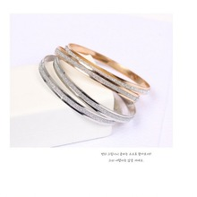 European and American fashion frosted gold silver bracelet suitable for women wholesale AN06
