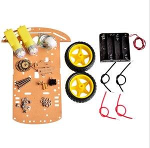 Image 4 - הימנעות מעקב מנוע חכם רובוט רכב שלדת קיט מהירות מקודד סוללה 2WD 4WD קולי מודול עבור Arduino