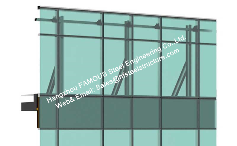Photovoltaic Cells Ventilated Facade Curtain Wall Single Glass Polycrystalline Or Single Crystal Component