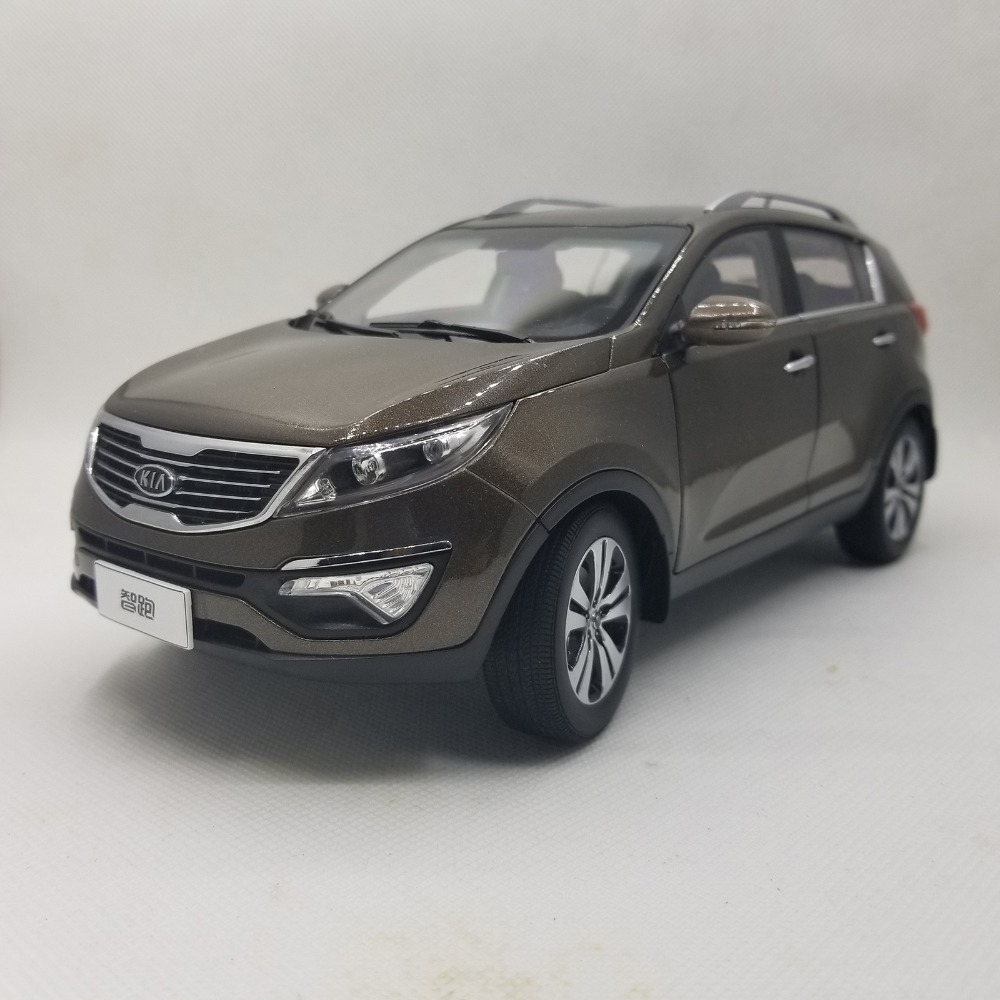 1:18 Diecast Model for Kia Sportage R 2011 Brown SUV Rare Alloy Toy Car Miniature Collection Gifts