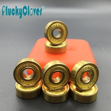 8pc/set ABEC9,11 Gold Skateboard Bearing 608 Wonderful Speed Skate wheel Bearing Pro Slalom Rollerski scooter wheel 8mm bearing