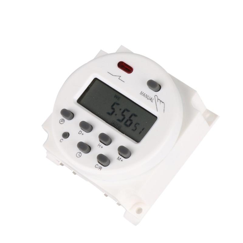 Цифровой ЖК-таймер переменного тока 12 В 24 в 220 в 240 В в неделю 7 дней программируемый реле времени 8а-16A таймер 10A CN101 Mini