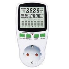 EU Digital LCD Energy Meter Wattmeter Wattage Electricity Kwh Power Meter Measuring Measuring Outlet Power Analyzer