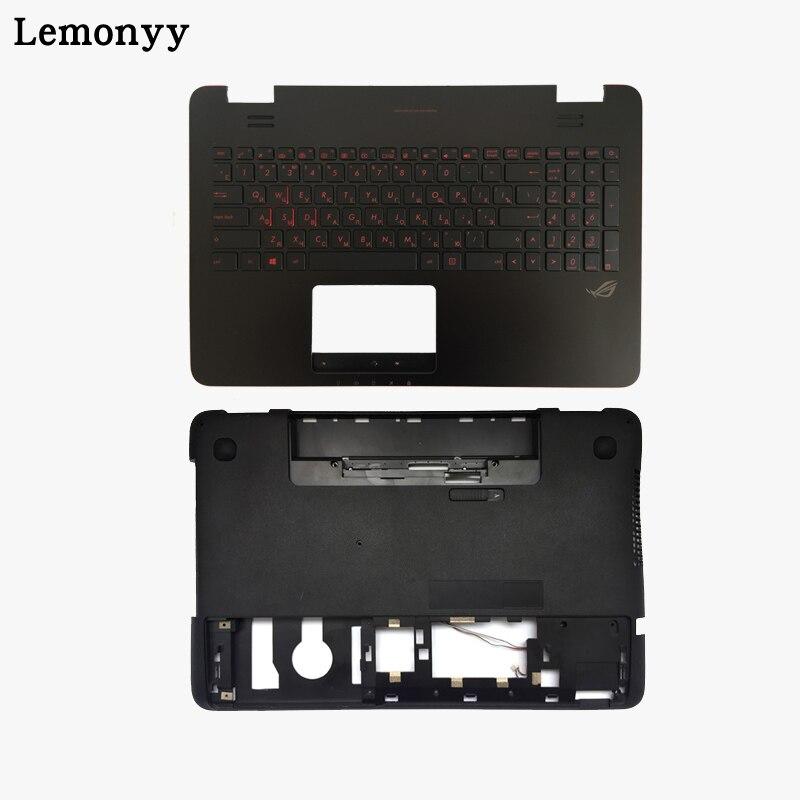 Русский подсветкой Клавиатура для ноутбука Asus G551 G551J G551JK G551JM G551JW G551JX G551VW G551V Palmrest верх/нижней чехол