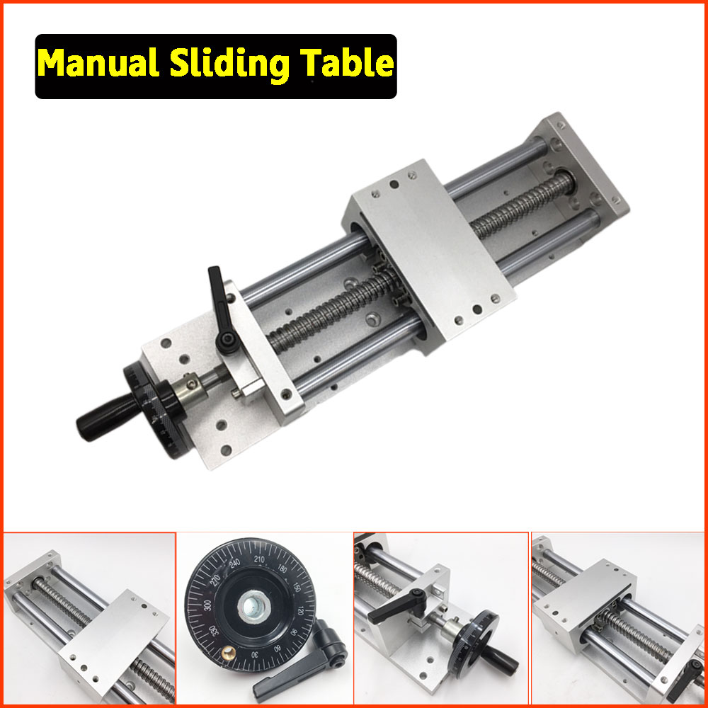 CNC Manual Sliding Table Cross Slide X Y Z Axis Linear Stage SFU1605 Ballscrew C7 Linear Motion Actuator DIY Milling Engraving a funssor 50mm 150mm slide stroke cnc z axis slide linear motion nema17 stepper motor for reprap engraving machine