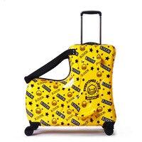 Новый детский багажный Спиннер 20 дюймов чемодан на колесиках детская тележка для каюты Студенческая дорожная сумка милая детская переноск