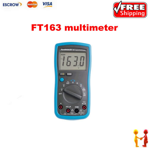 Freeshipping!! Digital Multimeter LCD AC/DC FT163, Resistance Capacitance, Ohm Electrical Tester Meter