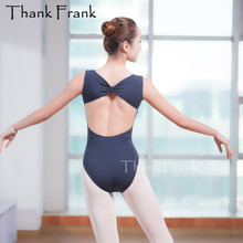 Sexy V-Neck Bow Back Ballet Leotard For Women Viscose/Cotton/Spandex Dance Practice Clothes Adult Gymnastic Leotards