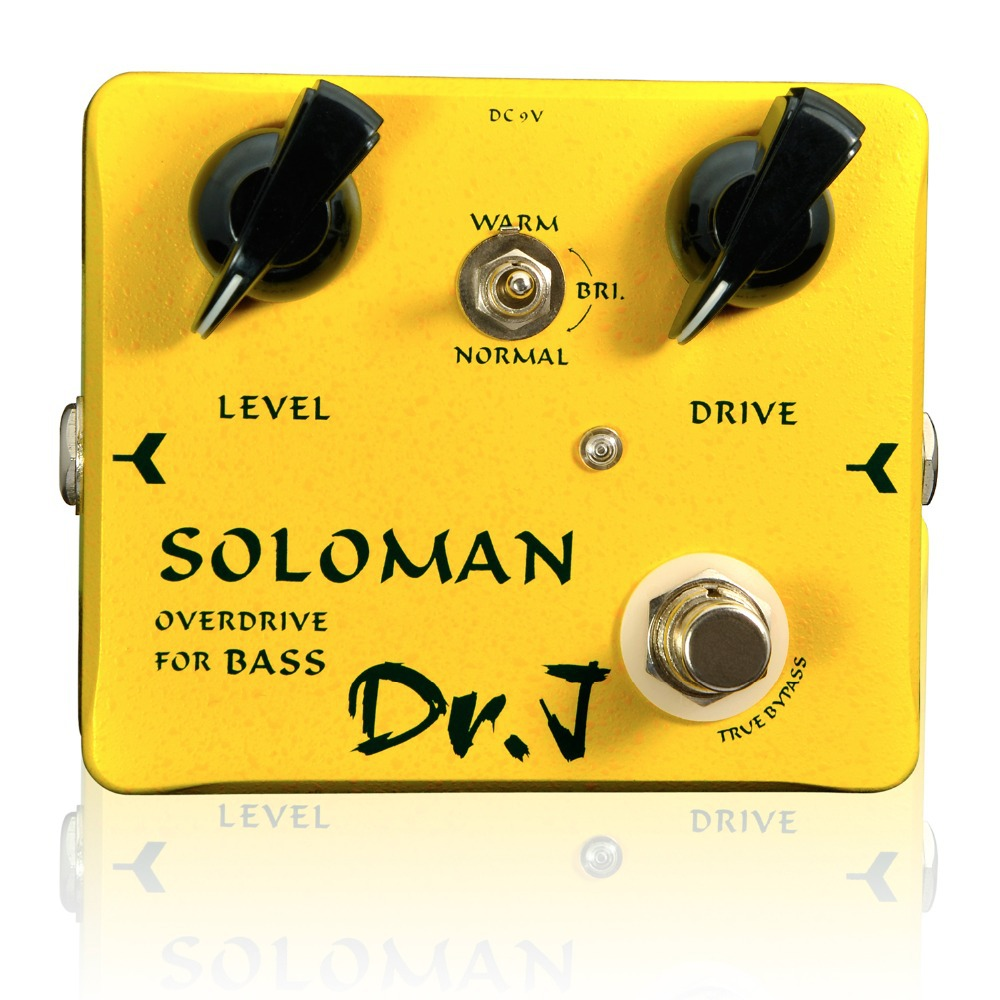 Dr. J Soloman Bass Overdrive Effect Pedal Electric Bass efeito True Bypass D52 dr j d53 sparrow driver di effect guitar electric bass overdrive pedal efeito true bypass free shipping