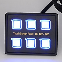 2017 High Quality 12V 24V Touch Screen Switches Panel 6 ON OFF LED Switch With VGA