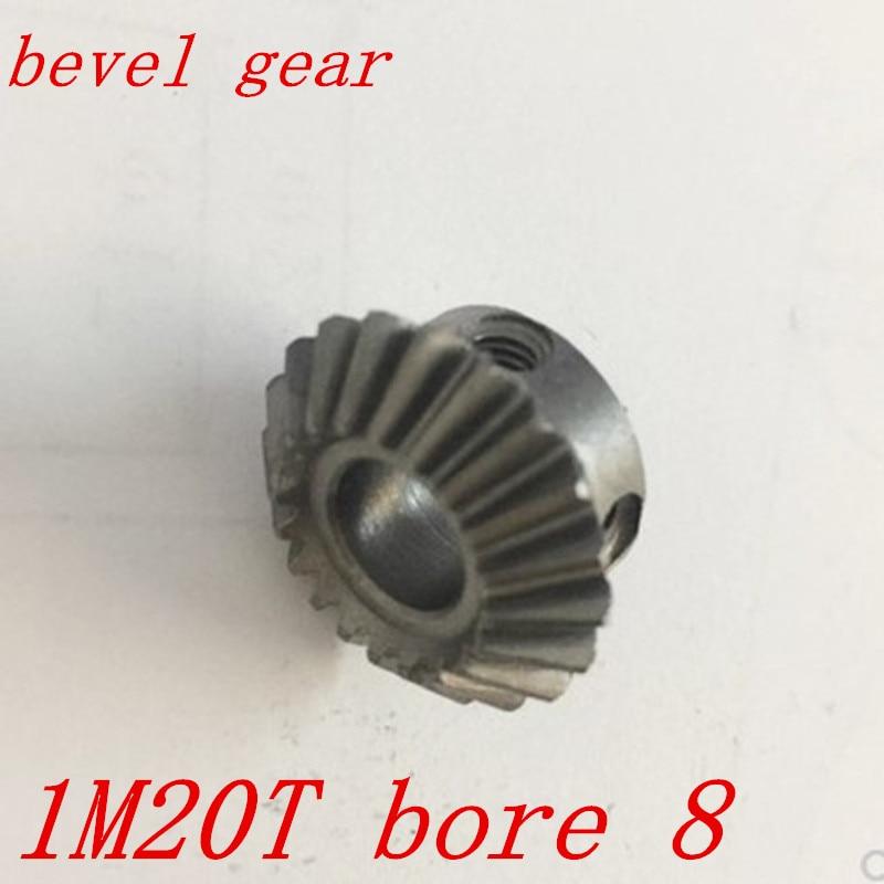 5//6//6.35//8mm Bore 20T 1M Metal Umbrella Tooth 90° Pairing Bevel Gear 20 Teeth