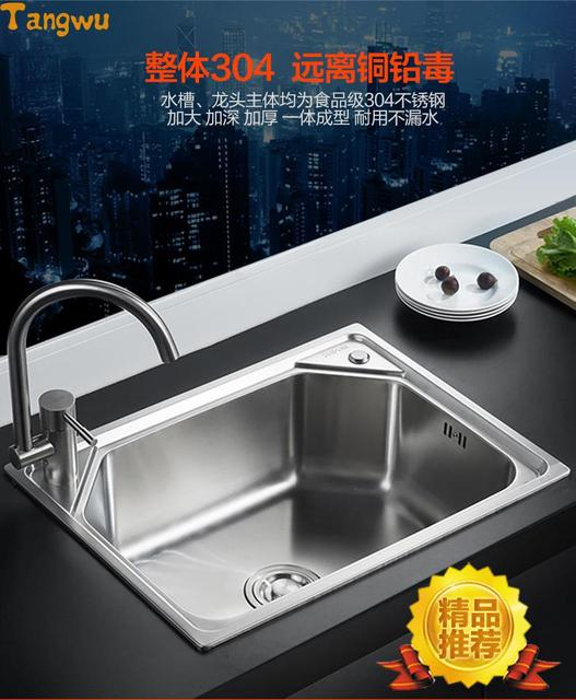 Nuevo baño 304 de acero inoxidable fregadero de la cocina solo ...