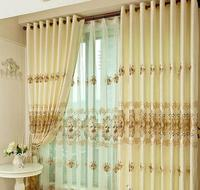 Quality embroidered curtain window screening chinese style living room curtain balcony cloth