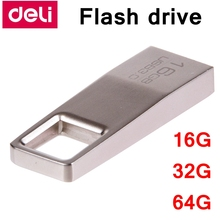 [ReadStar]Deli USB 3.0 high speed 16G 32G 64G metal case mini size flash drive USB drive U-disc retail Gift packing