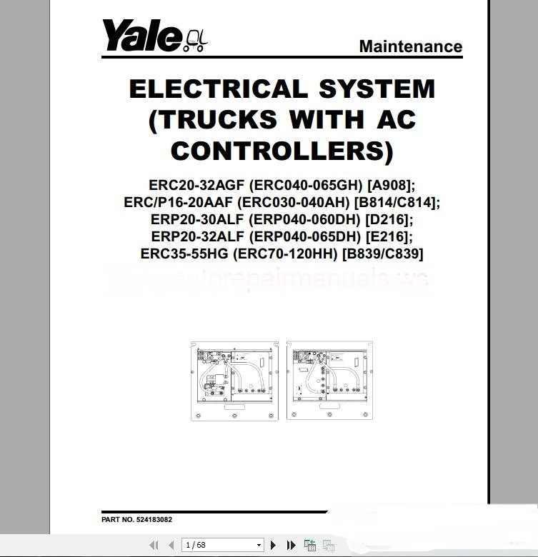 Yale Forklift full set PDF (Parts & Manuals) full set