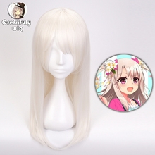 Fate/kaleid liner Cosplay Wig 60CM Illyasviel von Einzbern Fate Stay Night Synthetic Hair Halloween Costume Party Wigs + Cap