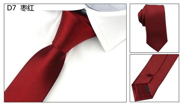 Slim Narrow Black Tie