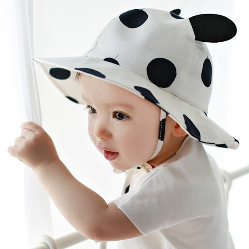 8502d52ebb0 Summer Sun Hat Toddler Kids Infant Sun Cotton Cap Autumn Cute Baby Girls  Boys Sun Beach Hat fit 0 to 2 years old-in Hats   Caps from Mother   Kids  on .