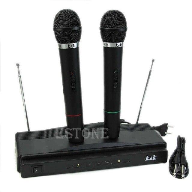 Профессиональная Система Беспроводной Микрофон Двойной Ручной 2 х Микрофон Беспроводной Приемник