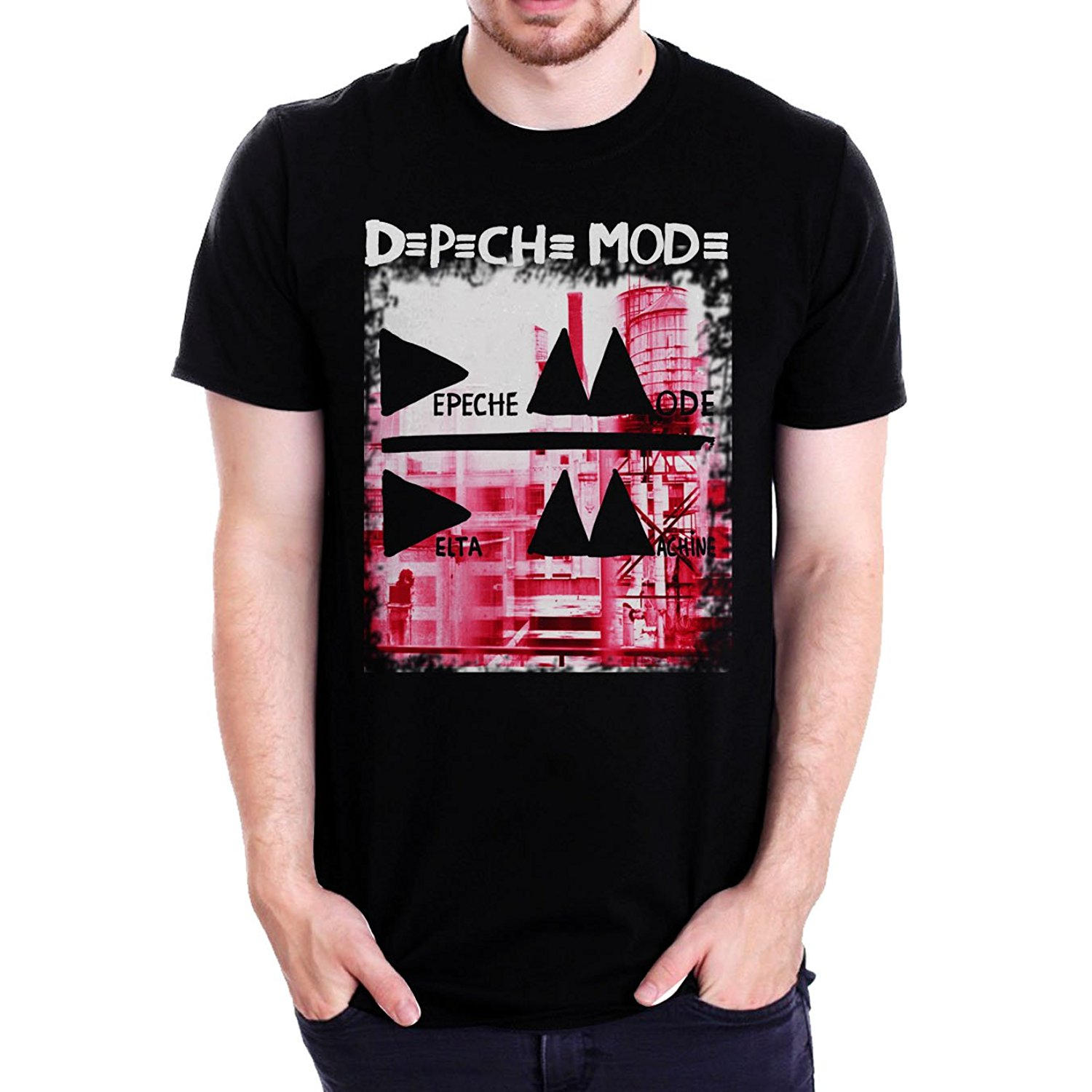 New DEPECHE MODE Delta Machine Electronic Band Mens Black T-Shirt Size S To 3XL Male Best Selling T Shirt 100% Cotton