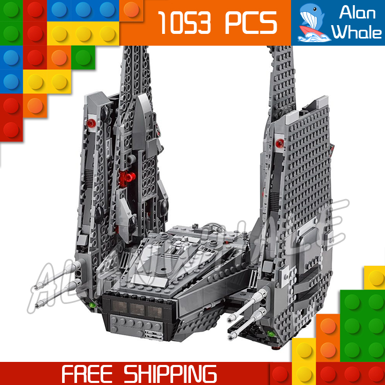 1053pcs New Space Wars Kylo Rens Command Shuttle 05006 Spaceship Model Building Blocks Stormtrooper Toys Compatible With Lego toys in space