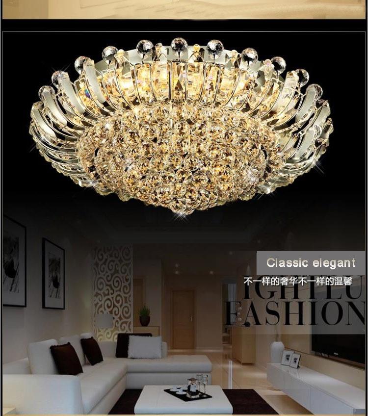 Nové moderní luxusní zapuštěné ledové křišťálové lustry osvětlující e14 žárovky s dálkovým ovládáním o průměru dia2cm AC220v