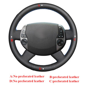 Image 3 - Black Steering Cover Artificial Leather Car Steering Wheel Cover for Toyota Prius 20(XW20) 2004 2005 2006 2007 2008 2009