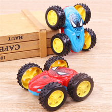 Cool Double-sided Dump Truck Inertial Car 360 Rotation Resistance To Fall Off Children Fashion Birthday Gifts Toy Cars Toys(China)