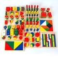 14 шт. за комплект монтессори детские развивающие деревянные геометрия форма из дерева строительные блоки учение игрушки