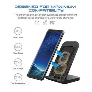Image 2 - DCAE 10W kablosuz şarj için Samsung Galaxy S9 S10 not 9 10 Qi kablosuz şarj standı iPhone 11 X XS Max 8 XR USB şarj aleti