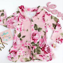 2018 Spring Autumn New ArrivalToddler Baby Girls Kids Warm Cotton Coat Autumn Floral Jacket Outerwear 1-5Y(China)