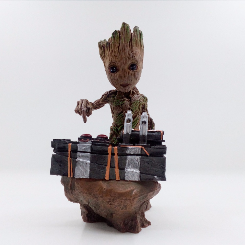Boxed Guardians of the Galaxy 2 DJ Tree Man Statue Resin Figure Collectible Model Toy 18cm Brinquedos Christmas Gift 2016 new arrival the guardians galaxy mini dancing tree man action figure model toy doll