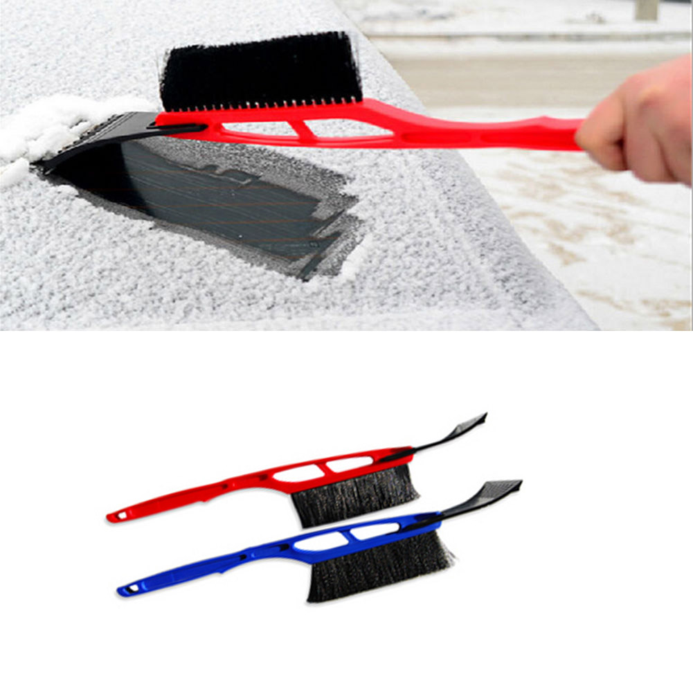 1Pc Car Vehicle Durable Snow Ice Scraper 2In1Snow Brush Shovel Removal Winter Random Color Remove Ice Snow  Car Tool Accessories