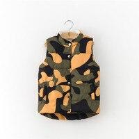 MBBGJOY Kids Áo Ghi Lê Nhung Ourterwear cho 3-8 T Trẻ Em Gái Trai Quần Áo Các Loại Ngụy Trang Vest Không Tay Áo Khoác Mùa Đông
