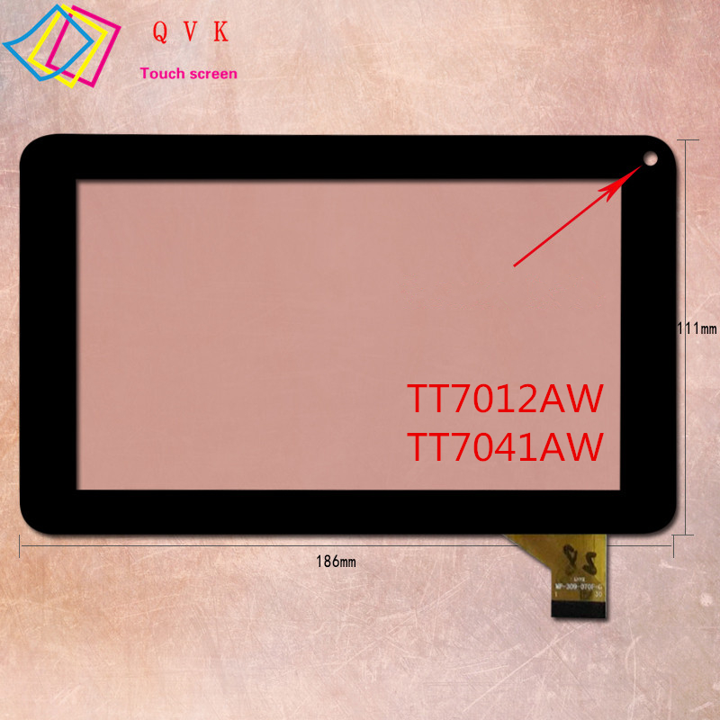 Black 7 Inch Touch Screen For Digma Optima 7.11 7.12 7.4 7.41 7.5 7.7 3G 4G Capacitive Touch Screen Panel Repair Replacement
