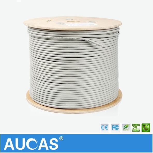 aucas high speed lan cabe cat6 50m 100m network cat6 cable shielded ftp  ethernet cable cat6