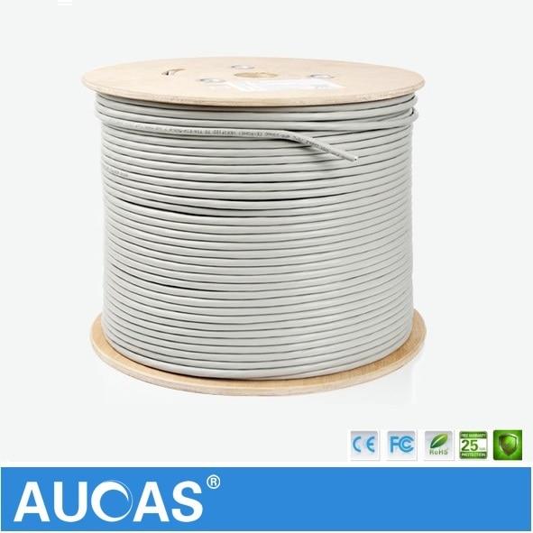 AUCAS High Speed Lan Cabe Cat6 50m 100m Network Cat6 Cable shielded FTP ethernet cable cat6 aucas network ethernet cat6 cable ftp ethernet network cable shielded lan cable cat6 10m 20m 30m