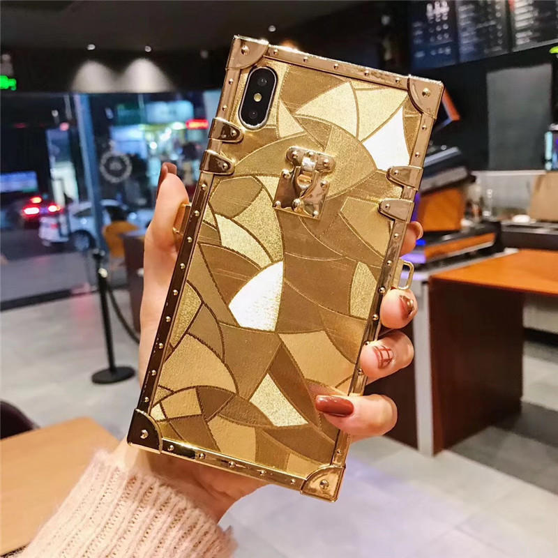 HTB1UF6WaFzsK1Rjy1Xbq6xOaFXa1 - Luxury Square Gold glitter case for Samsung S10 Plus S9 S8 3D high quality soft cover for iphone 11 Pro X XR XS MAX 6 7 8 coque